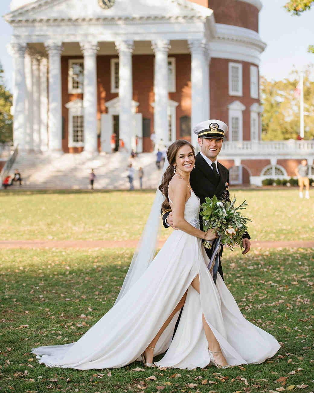 anne and staton wedding portrait outside venue