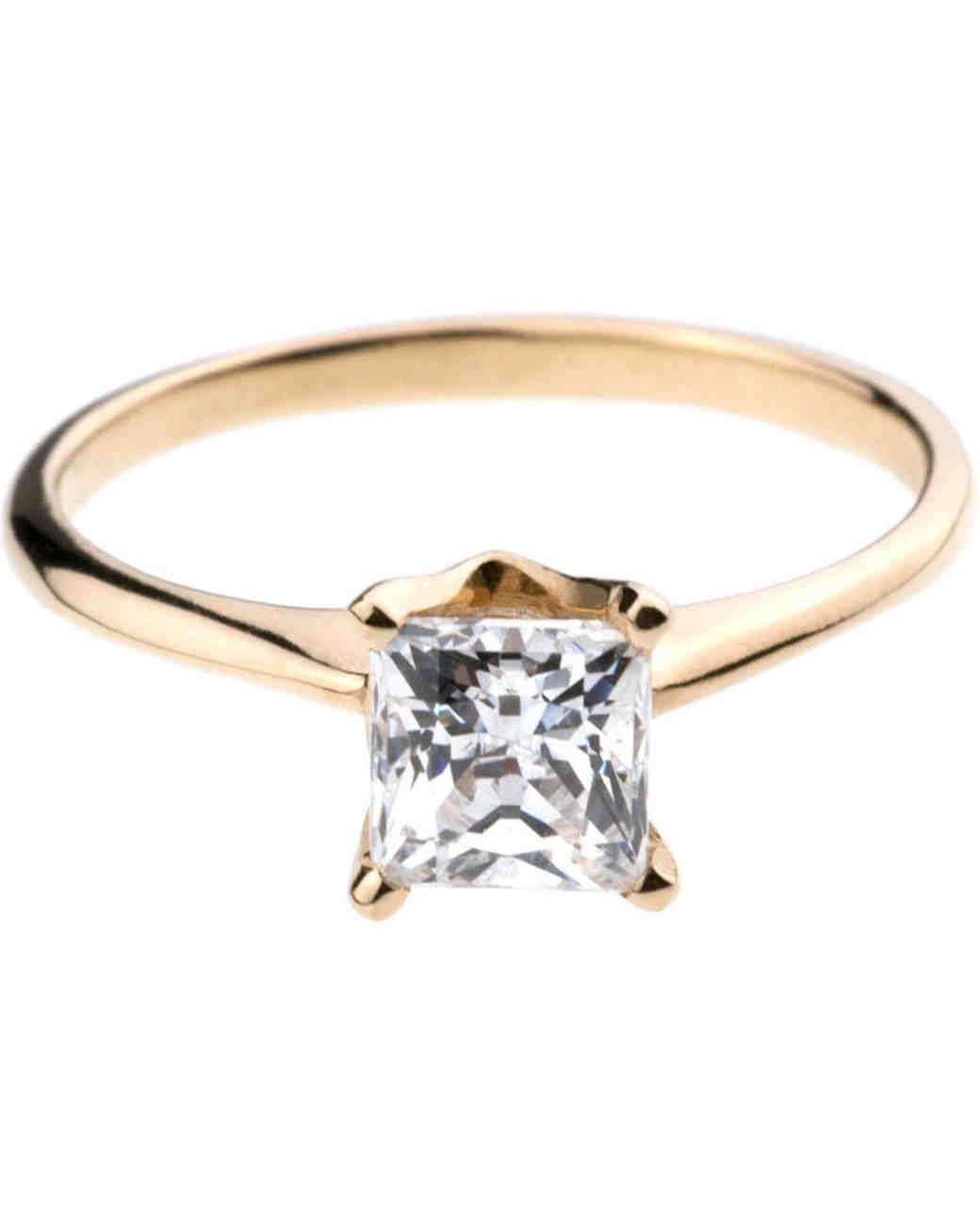 Bario Neal Princesscut Engagement Ring