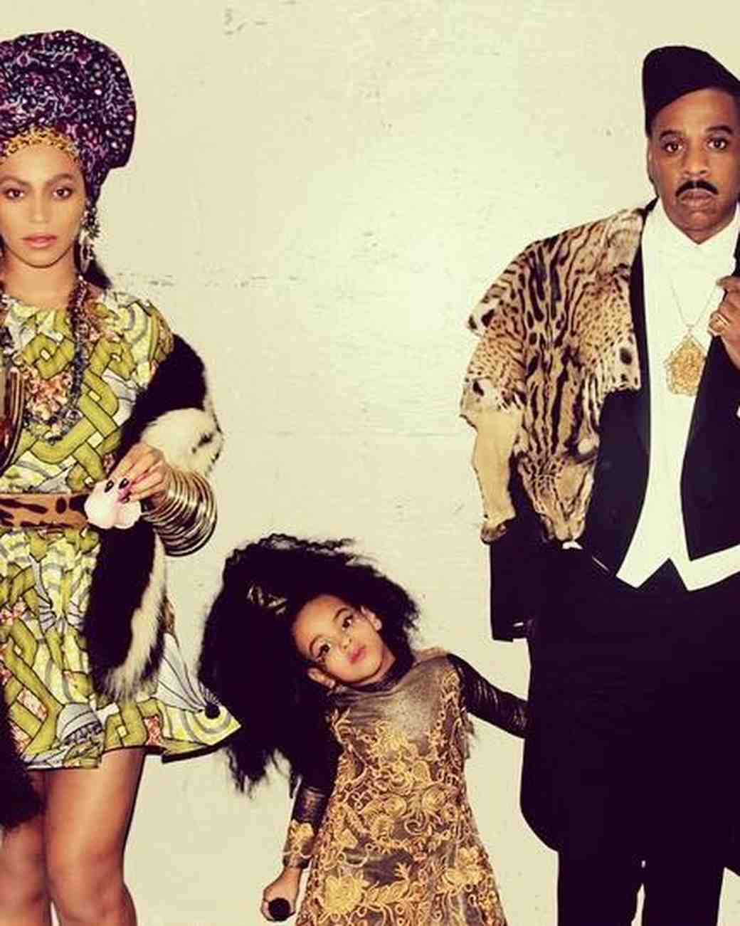 "Beyonce, Jay Z, and Blue Ivy in ""Coming to America"" Halloween Costumes"