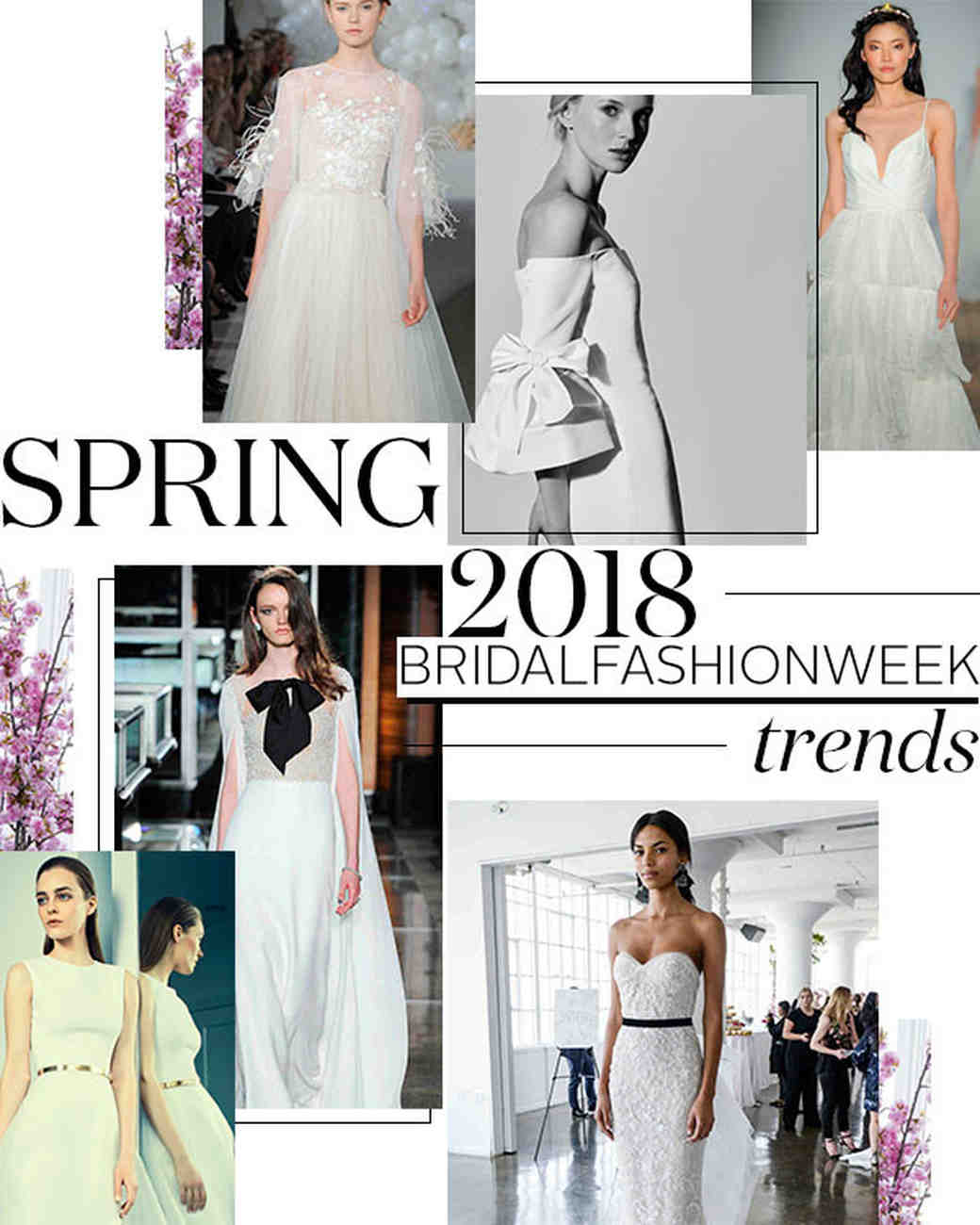 10 Wedding Dress Trends From Spring 2018 Bridal Fashion Week Martha Stewart Weddings