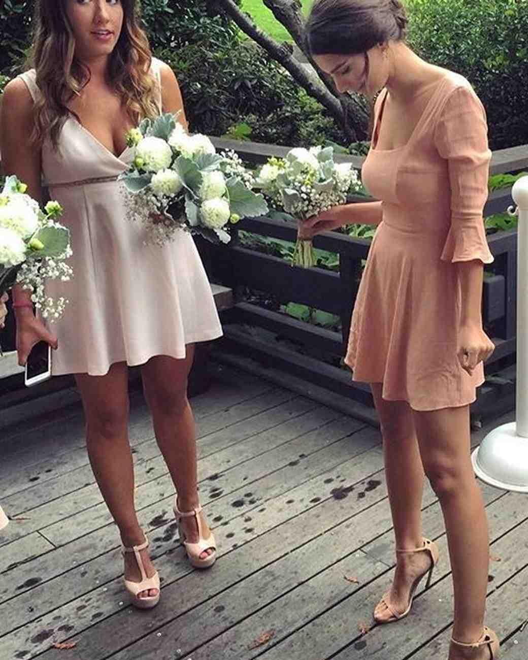 Emily Ratajkowski was a bridesmaid in wedding of a friend