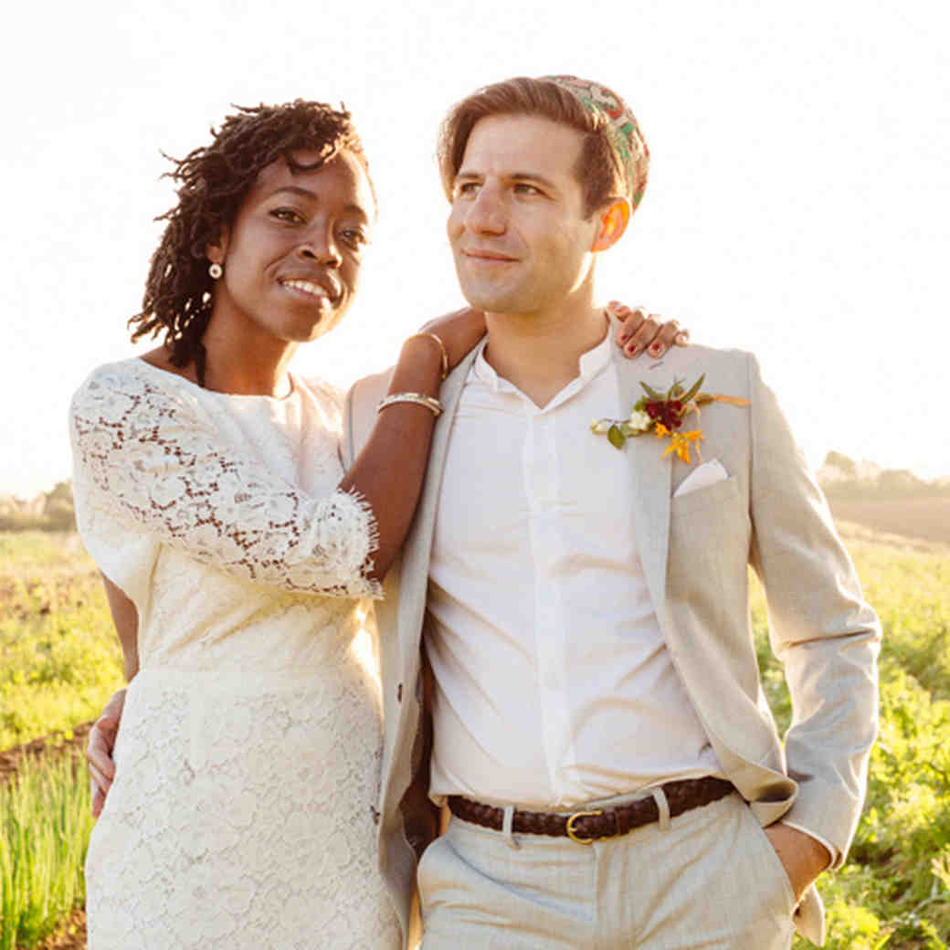 Erica and Jordy's Colorful Outdoor Wedding on a California Commune