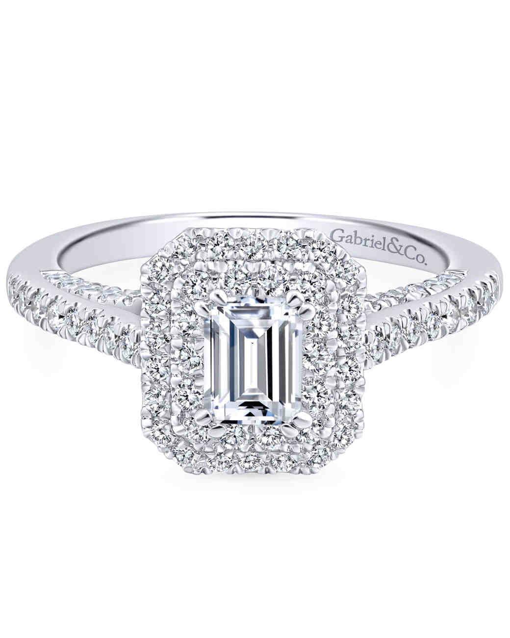 Gabriel & Co. Emerald-Cut Engagement Ring