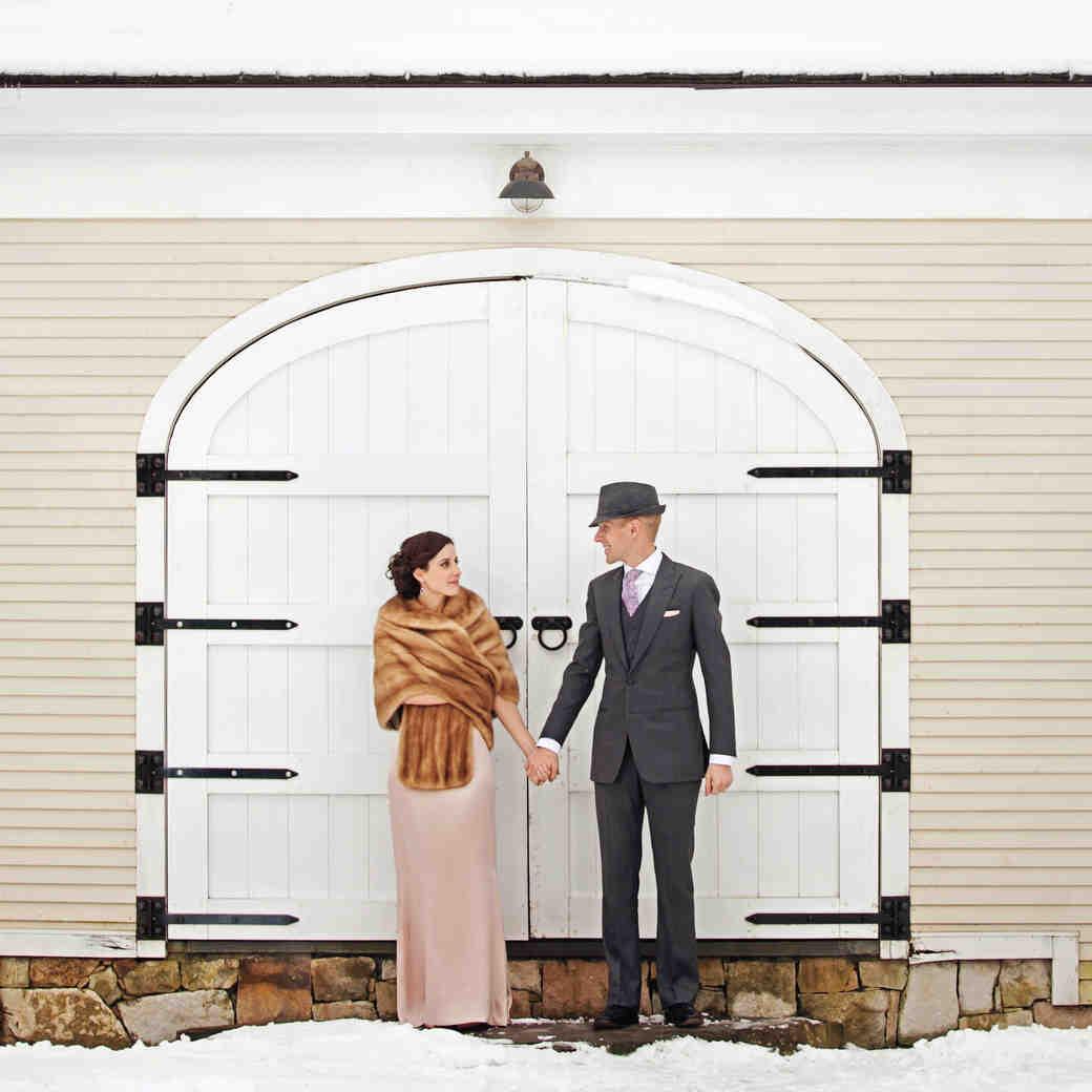 A Rustic Winter Destination Wedding in Vermont