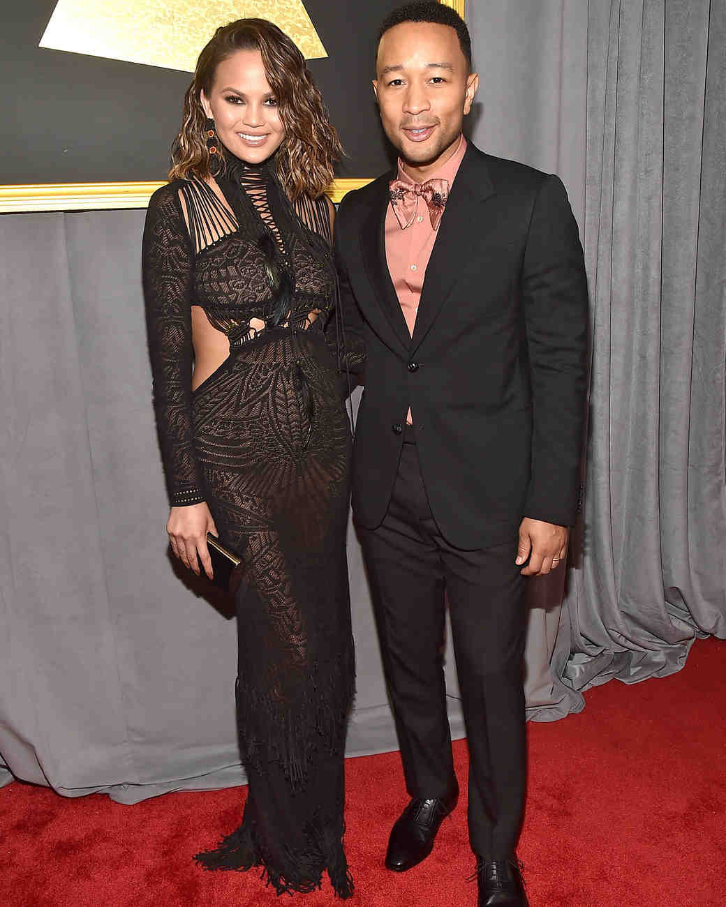 John Legend and Chrissy Teigen at 2017 Grammy Awards