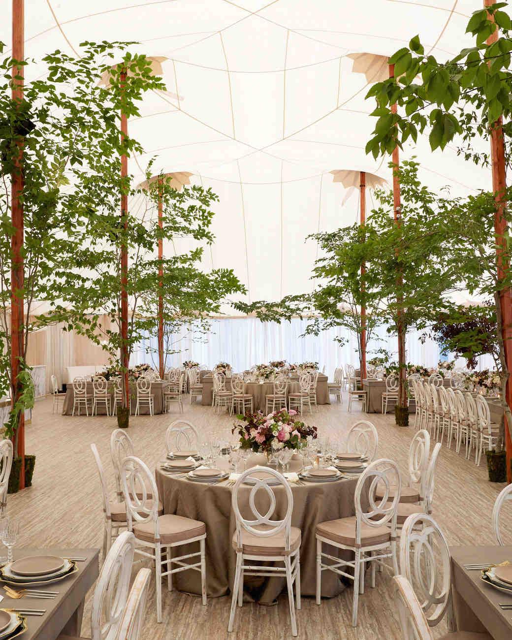 Wedding Reception Tent Trees