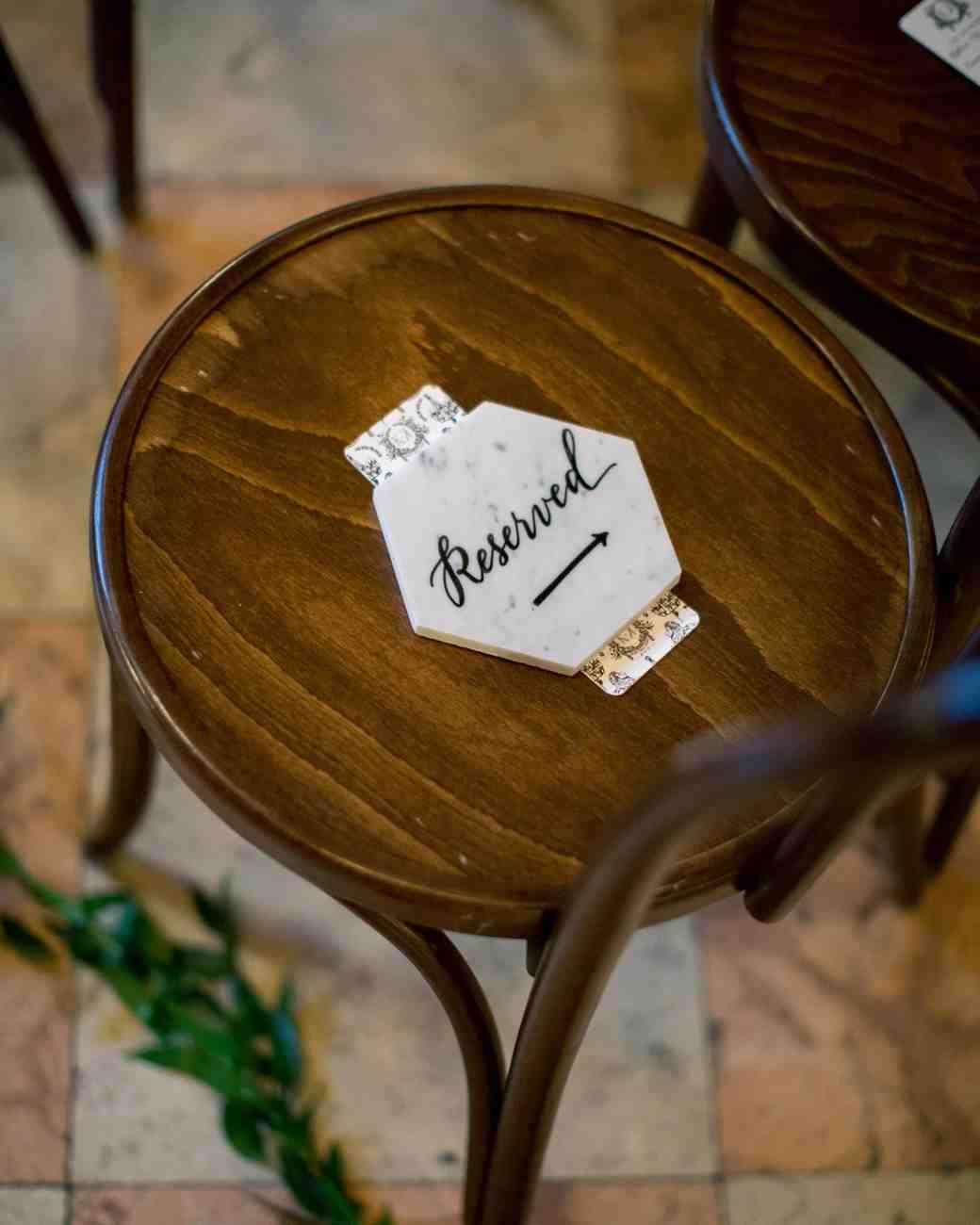 Hexagonal Marble Wedding Seat Reservations