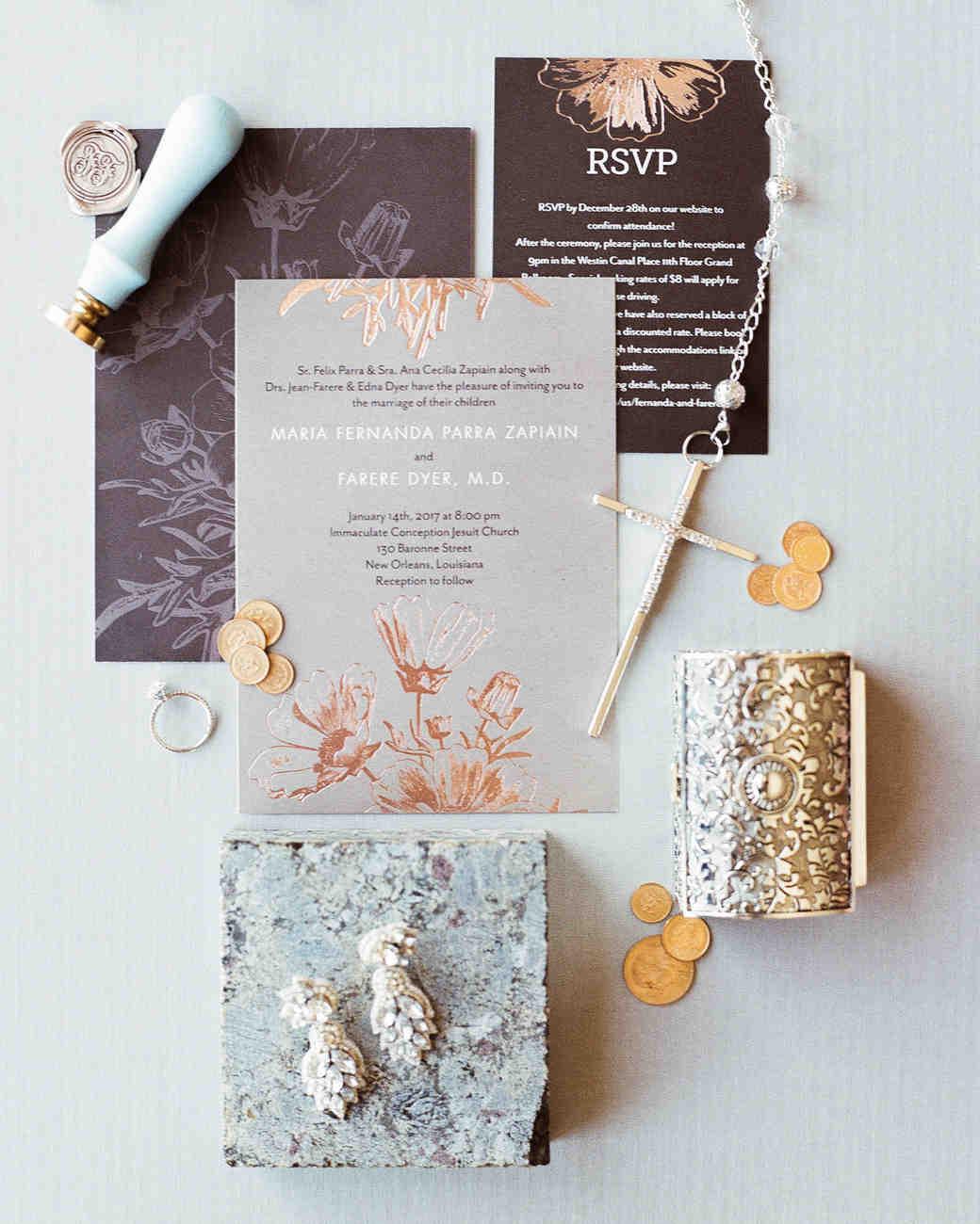modern wedding stationery