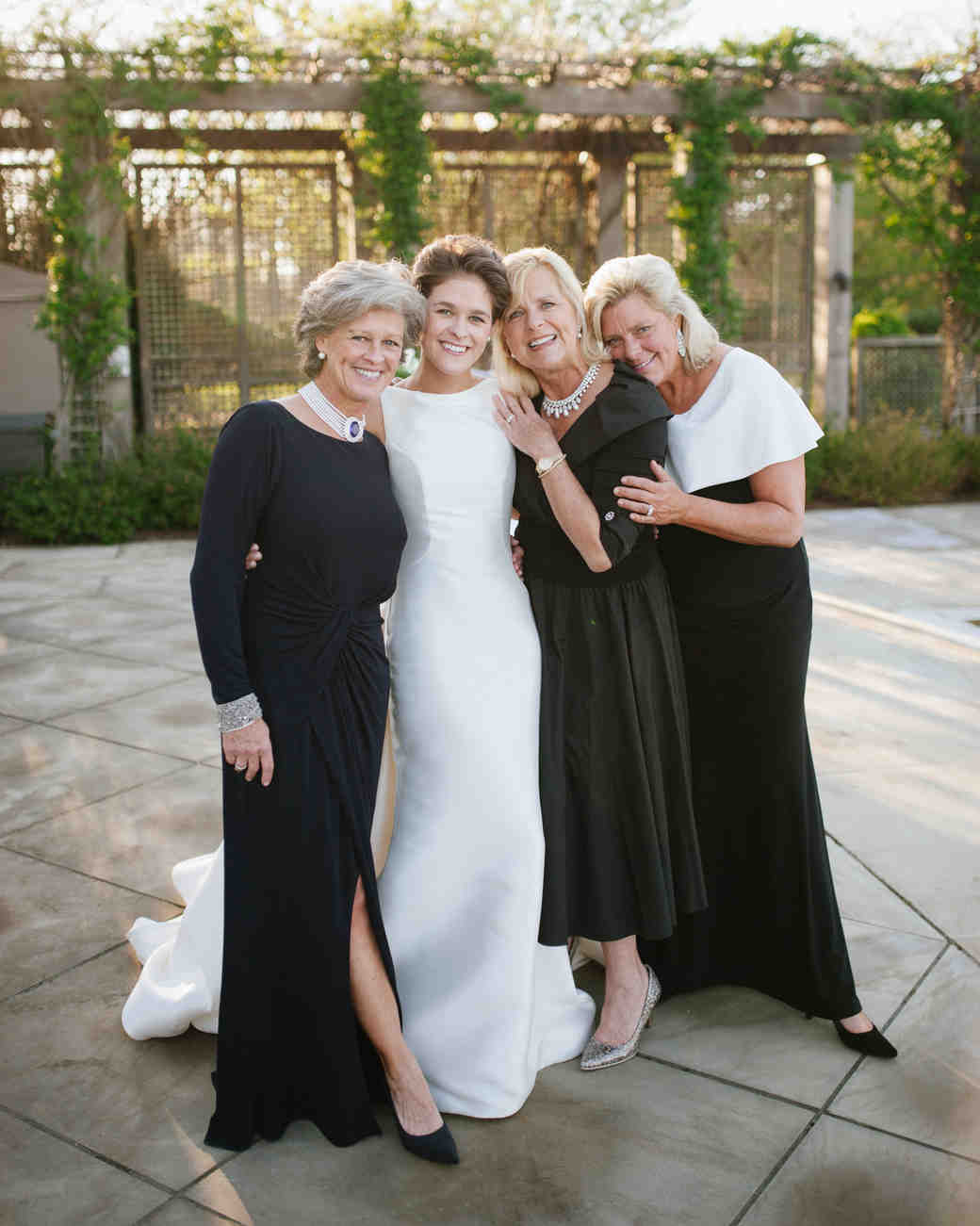 A Bride with Her Family