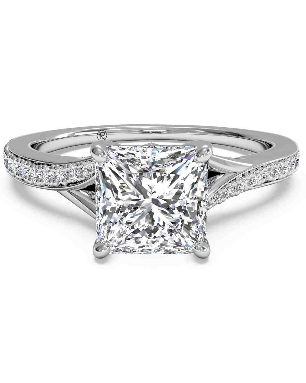 Ritani Princess-Cut Engagement Ring