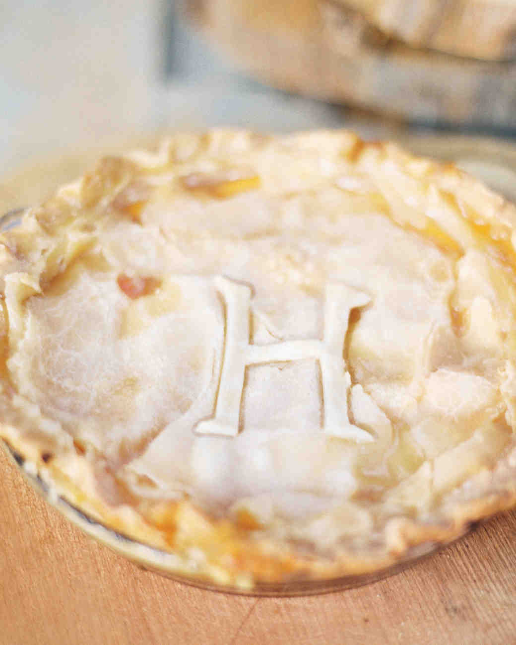 Monogrammed Wedding Pie