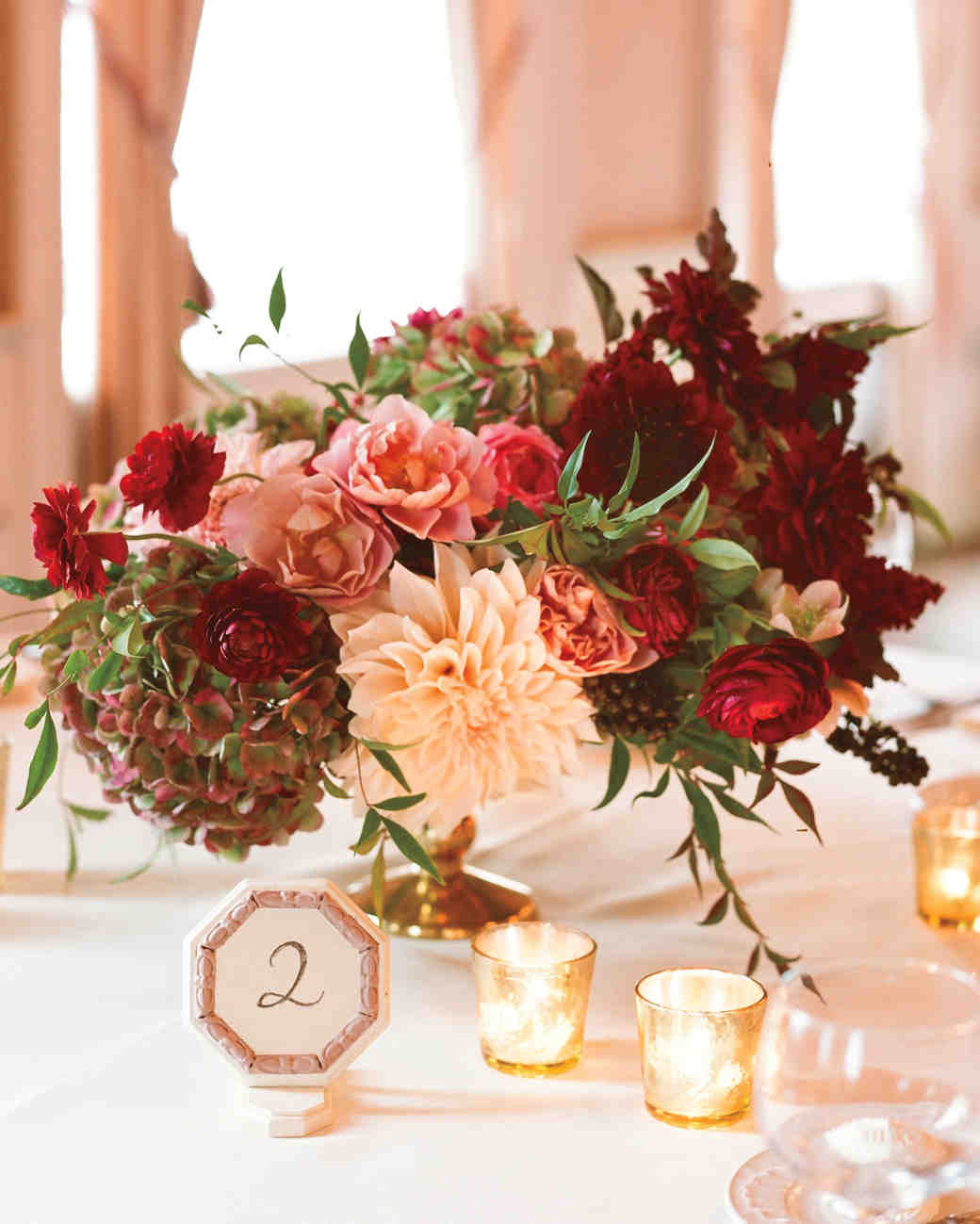 autumn hued centerpiece
