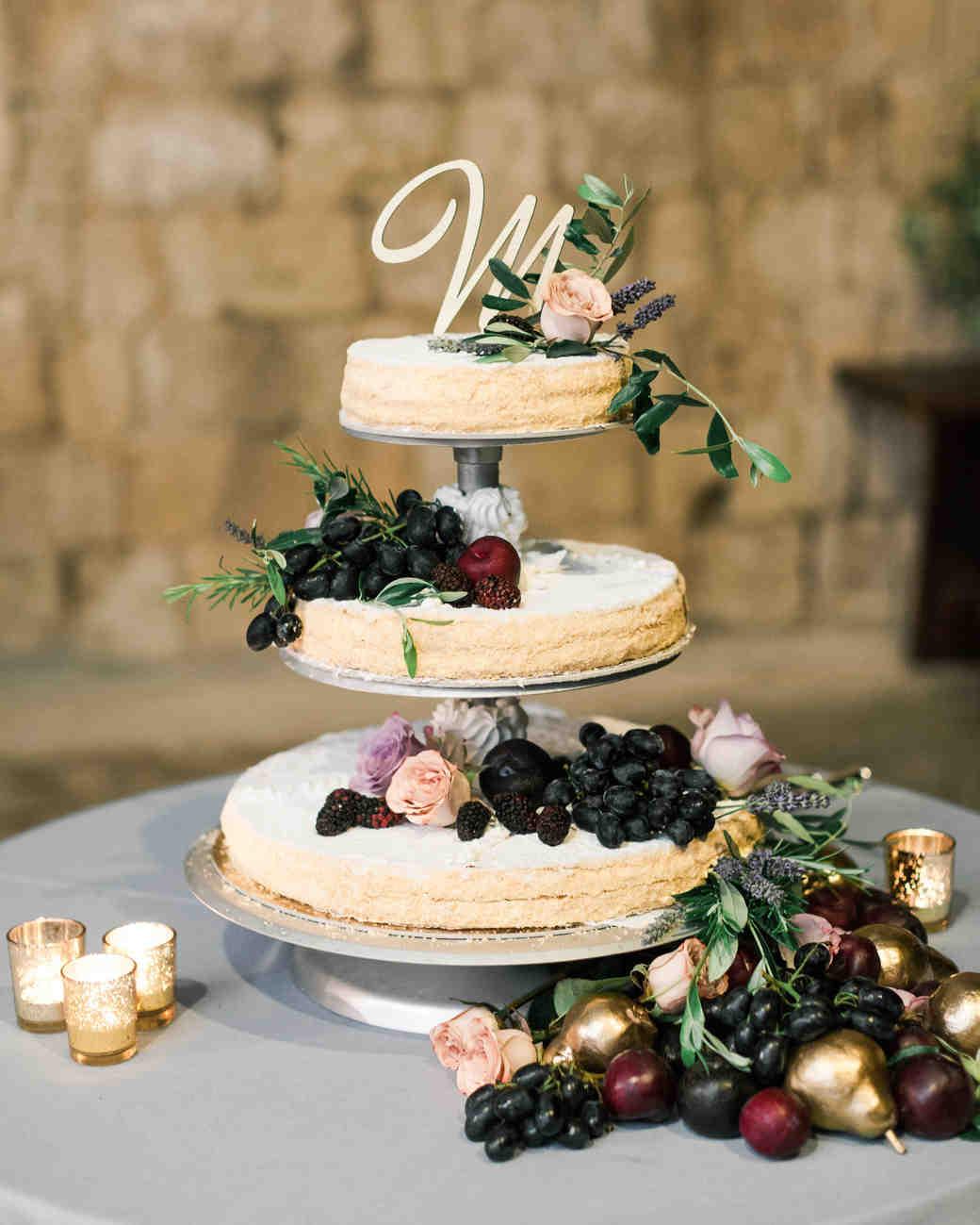 Fruit wedding cake recipes