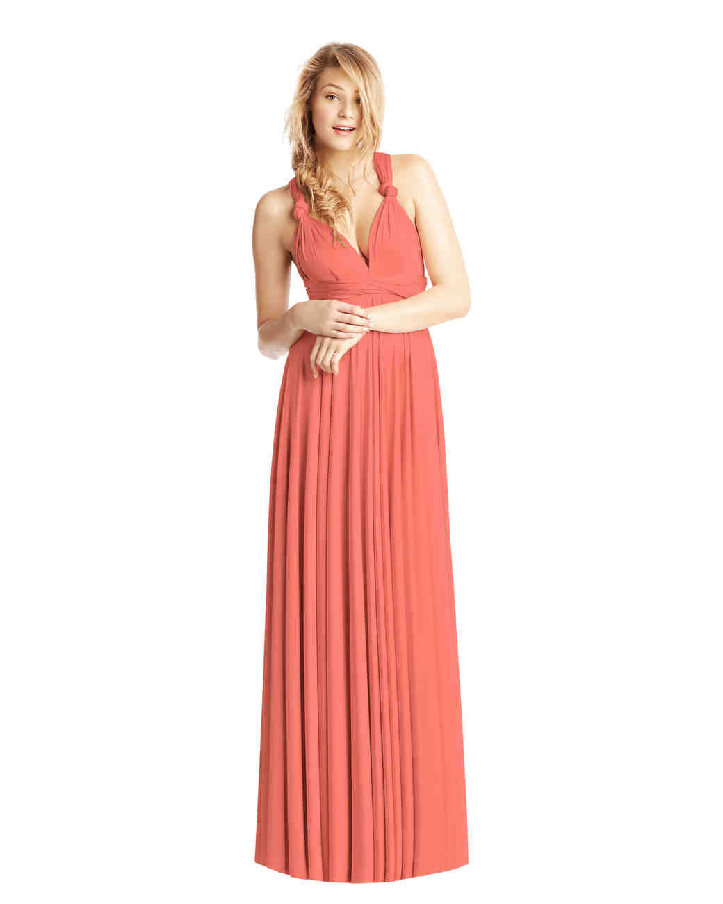 coral bridesmaid dress twobirds ballgown
