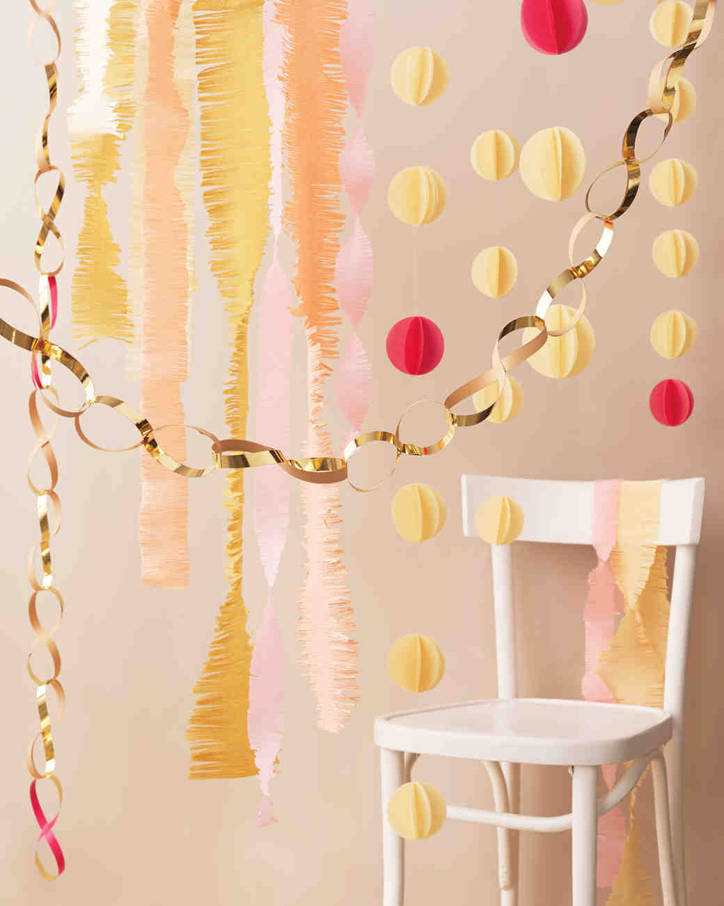 Easy to make paper decorations for your wedding martha for Paper decorations diy
