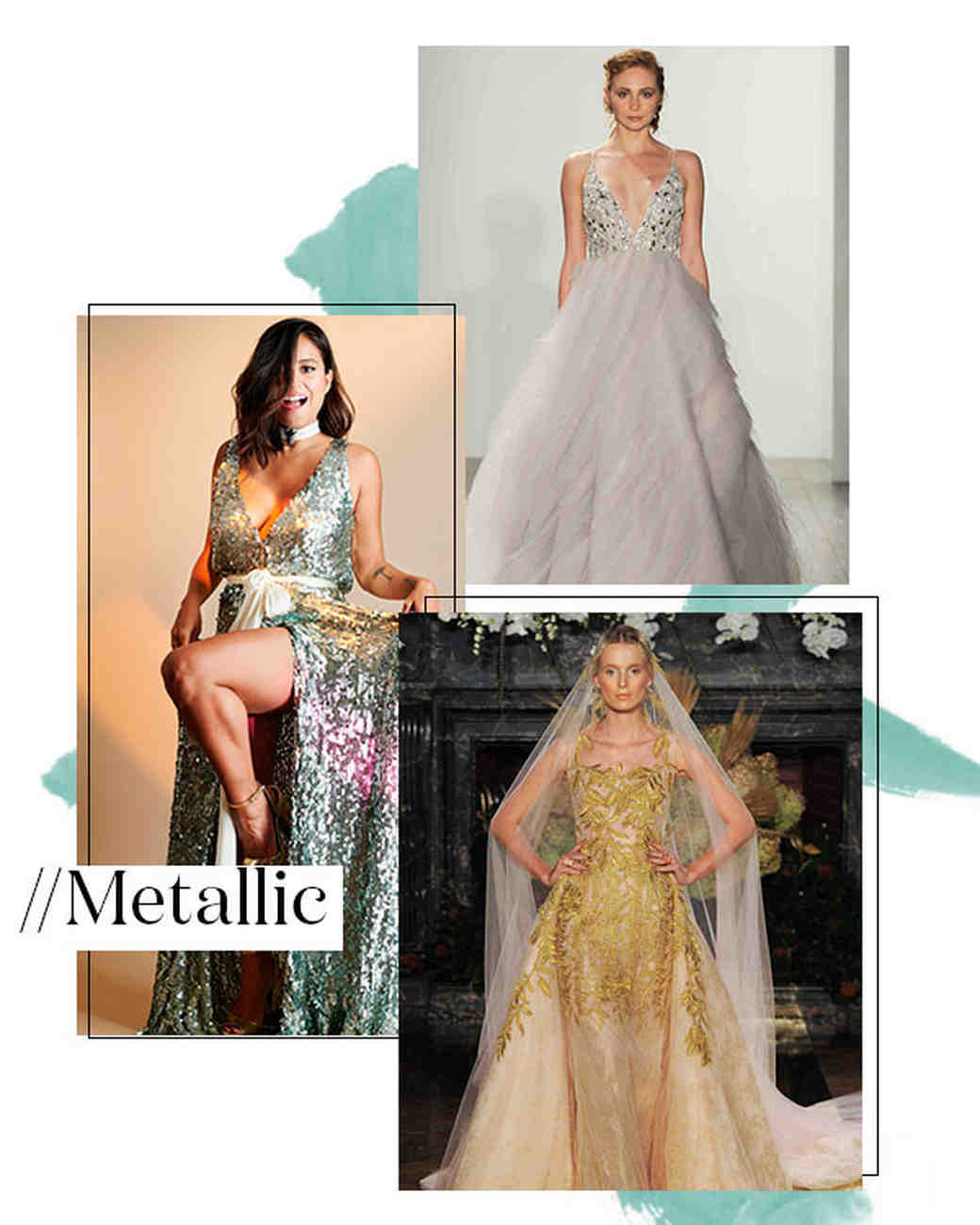Fall 2017 Wedding Dress Trend: Metallic