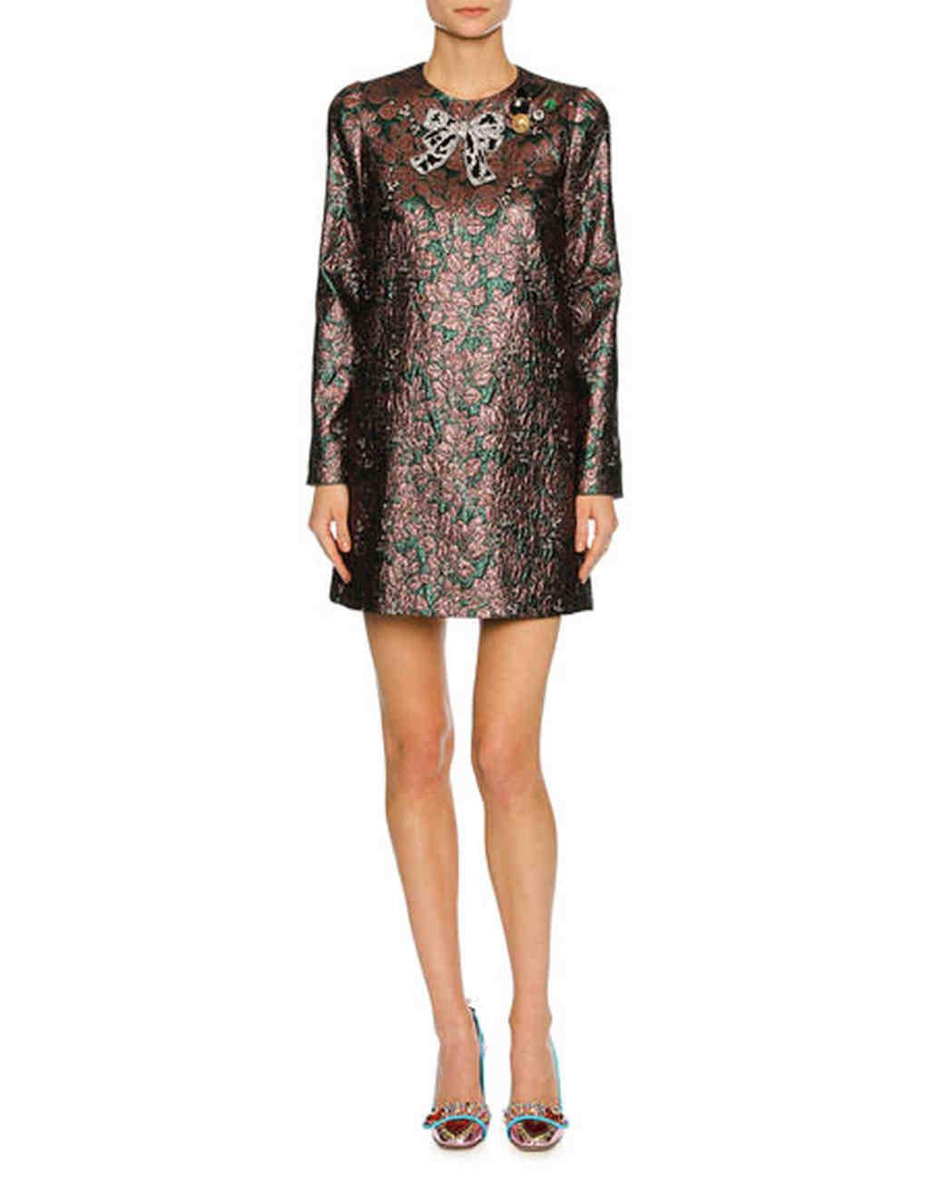 long-sleeve sequins dress