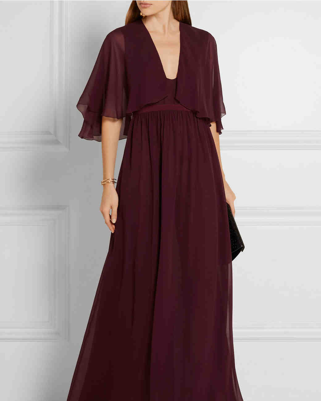 Flowy Wine-Colored Gown