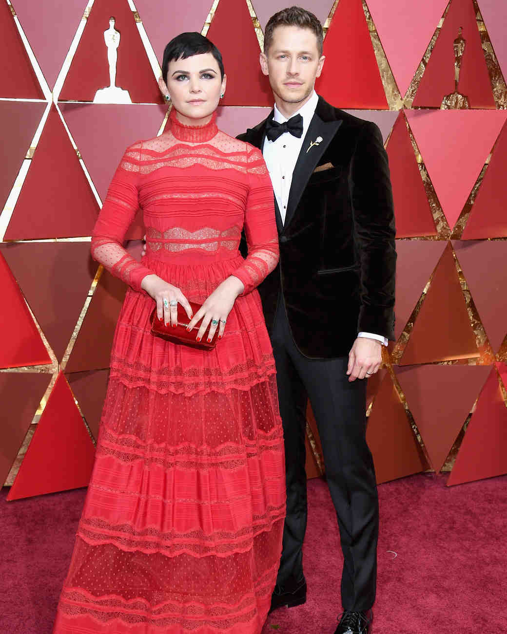 Ginnifer Goodwin and John Dallas at 2017 Academy Awards