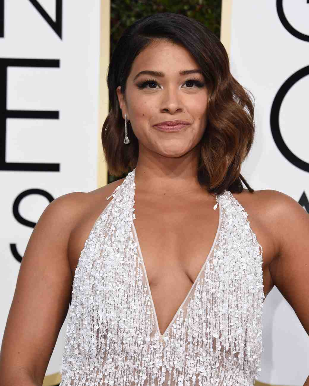 Gina Rodriguez at 2017 Golden Globes