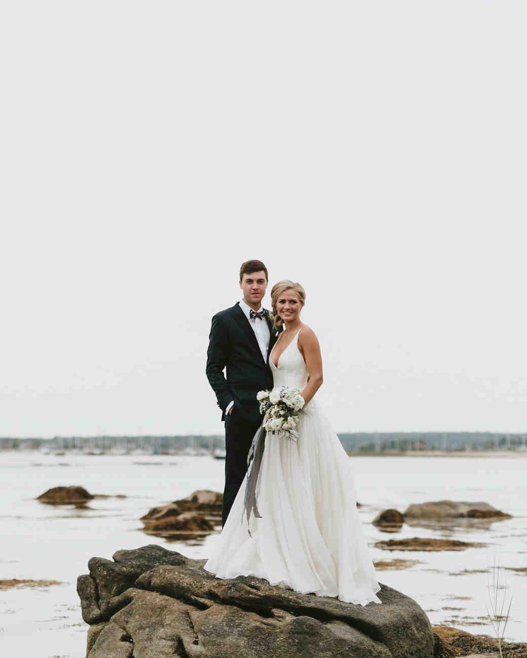 hadley corey wedding couple on cliff