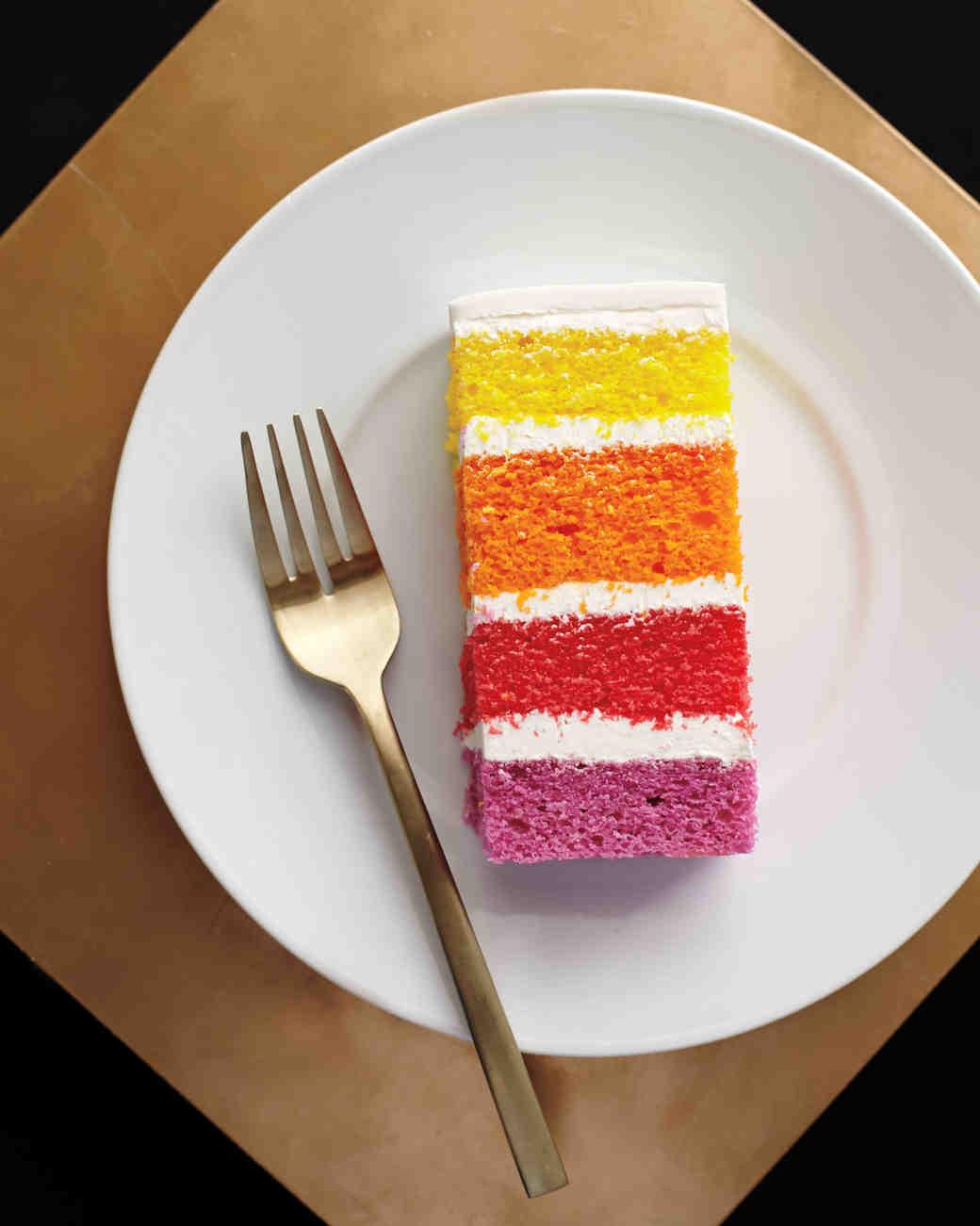 ombré cake layers