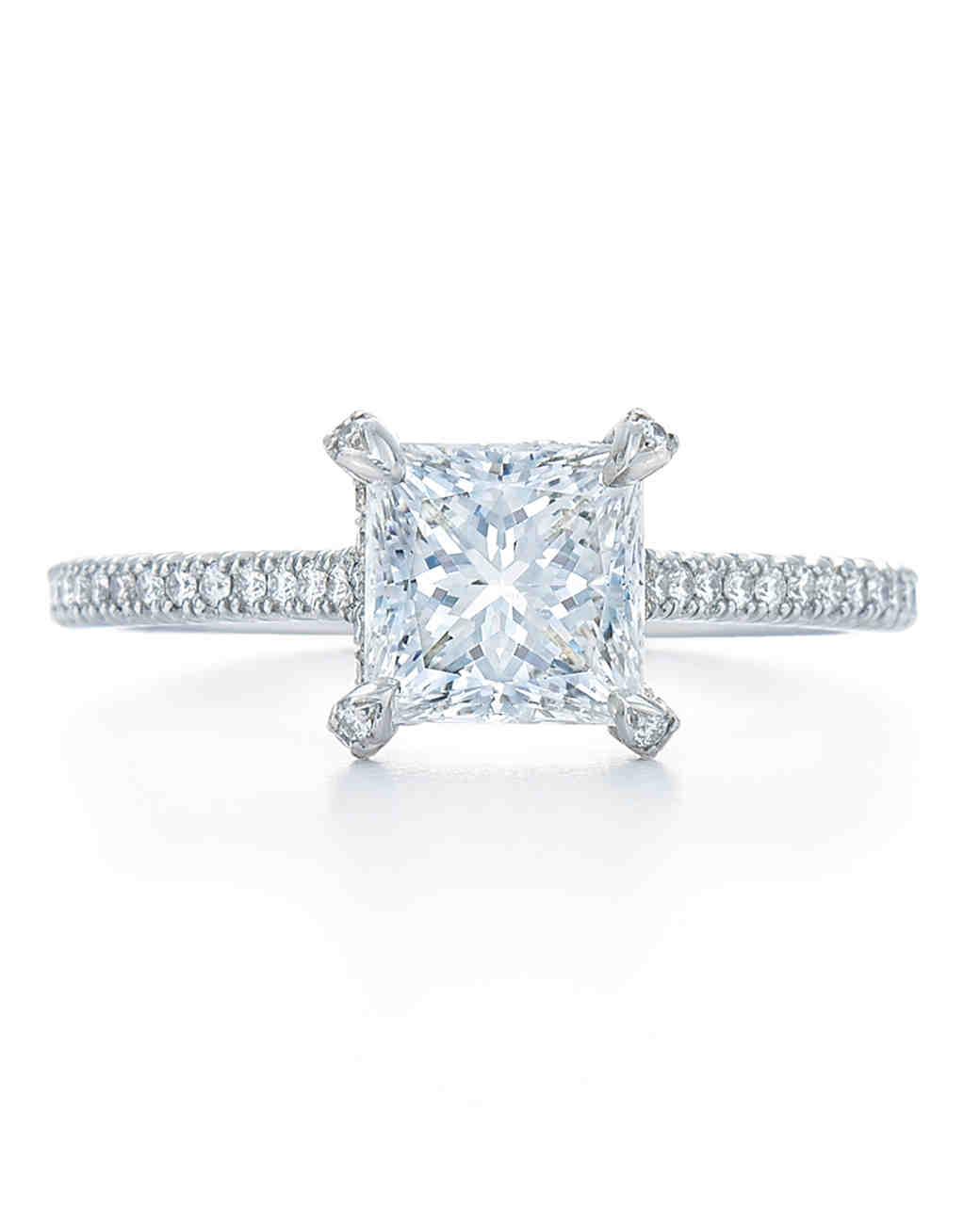 Kwiat Princess-Cut Engagement Ring