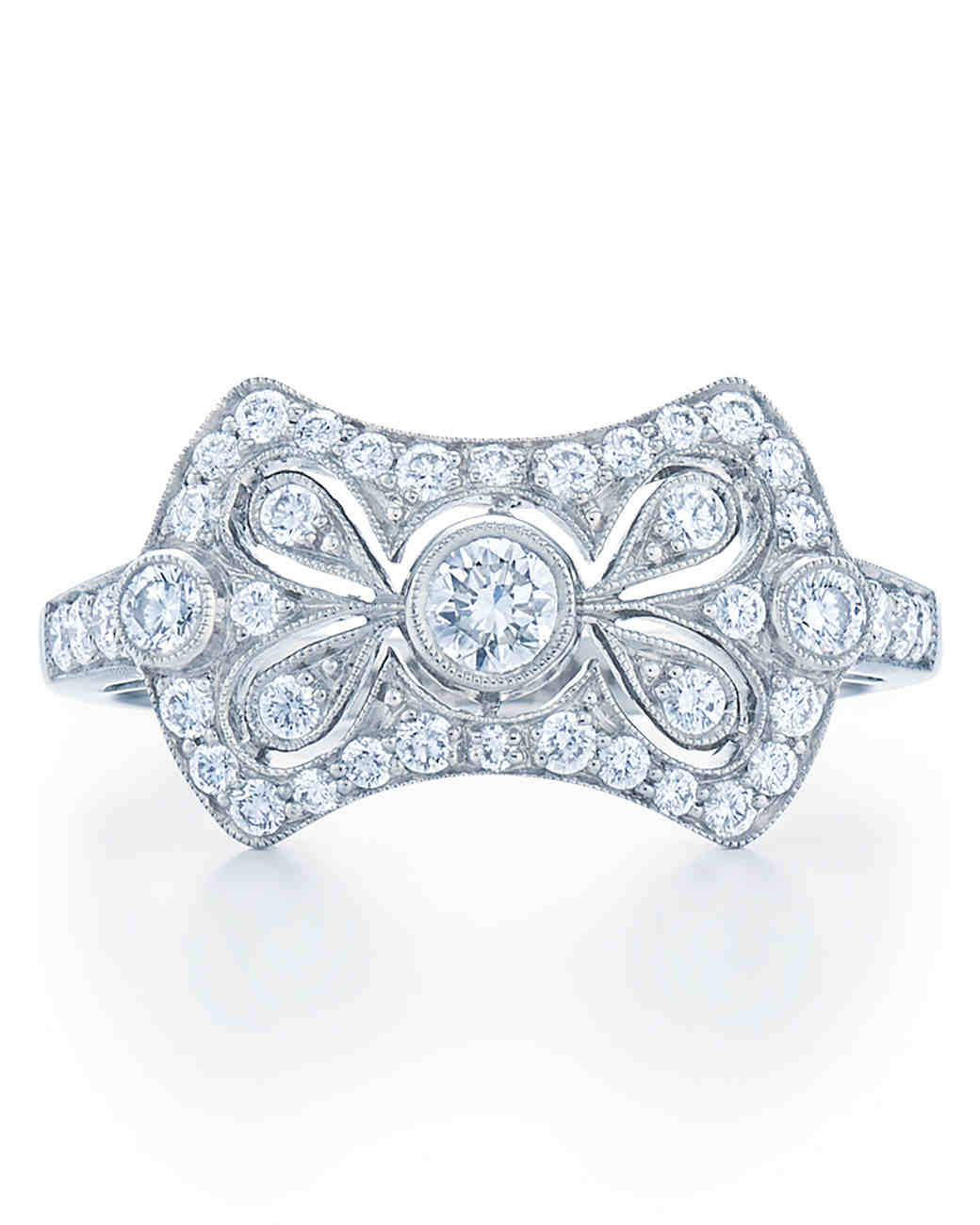 Kwiat vintage bow-shaped diamond engagement ring
