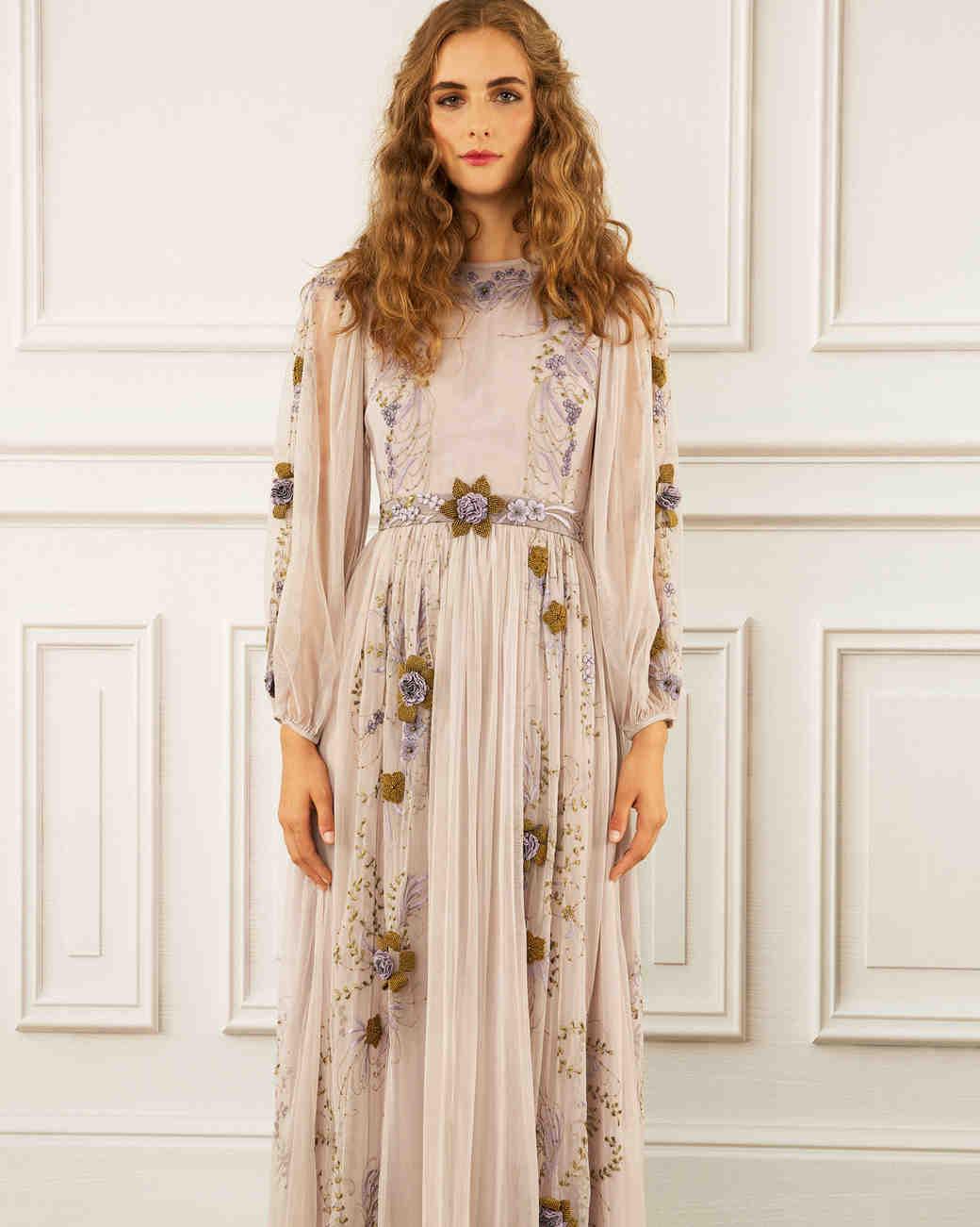 maria korovilas wedding dress spring 2017 boho long sleeve