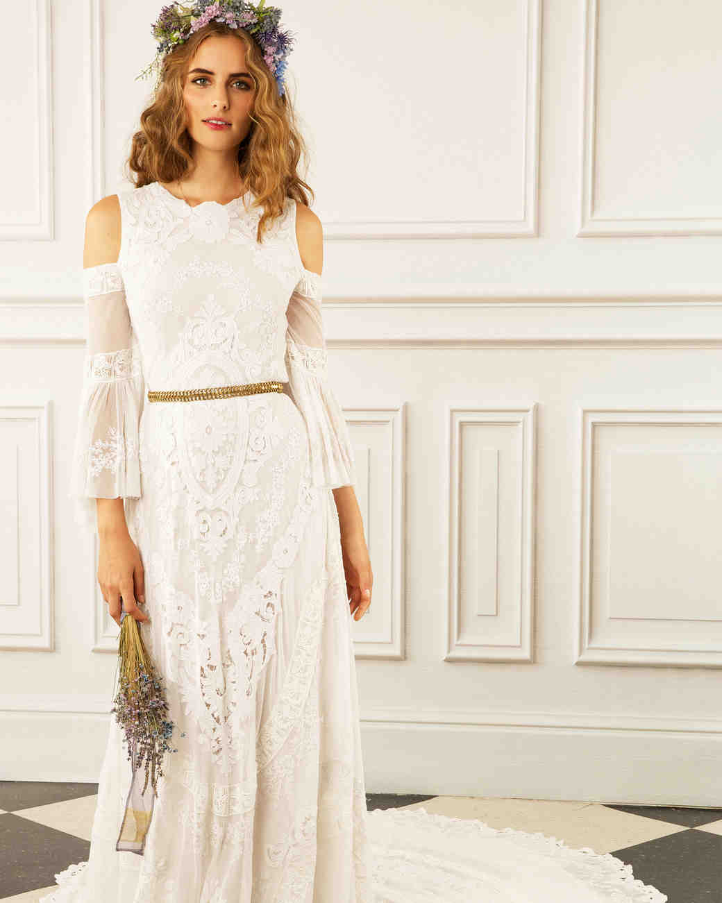 maria korovilas wedding dress spring 2017 shoulder cut out