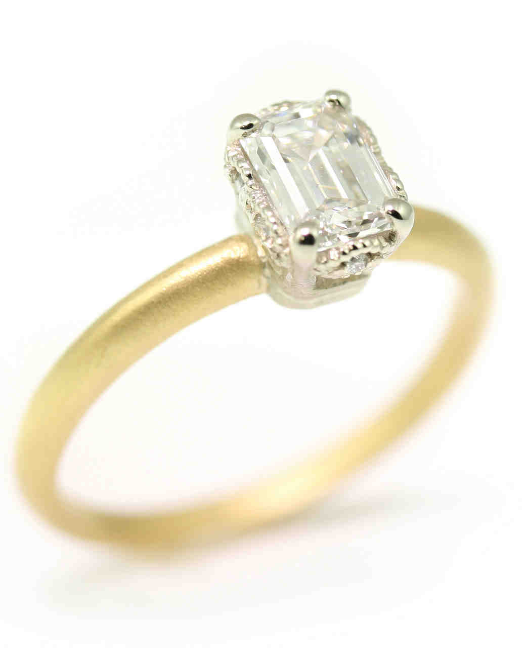 Megan Thorne Emerald-Cut Engagement Ring