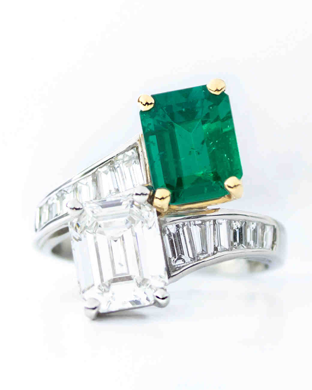 Oscar Heyman Emerald-Cut Engagement Ring