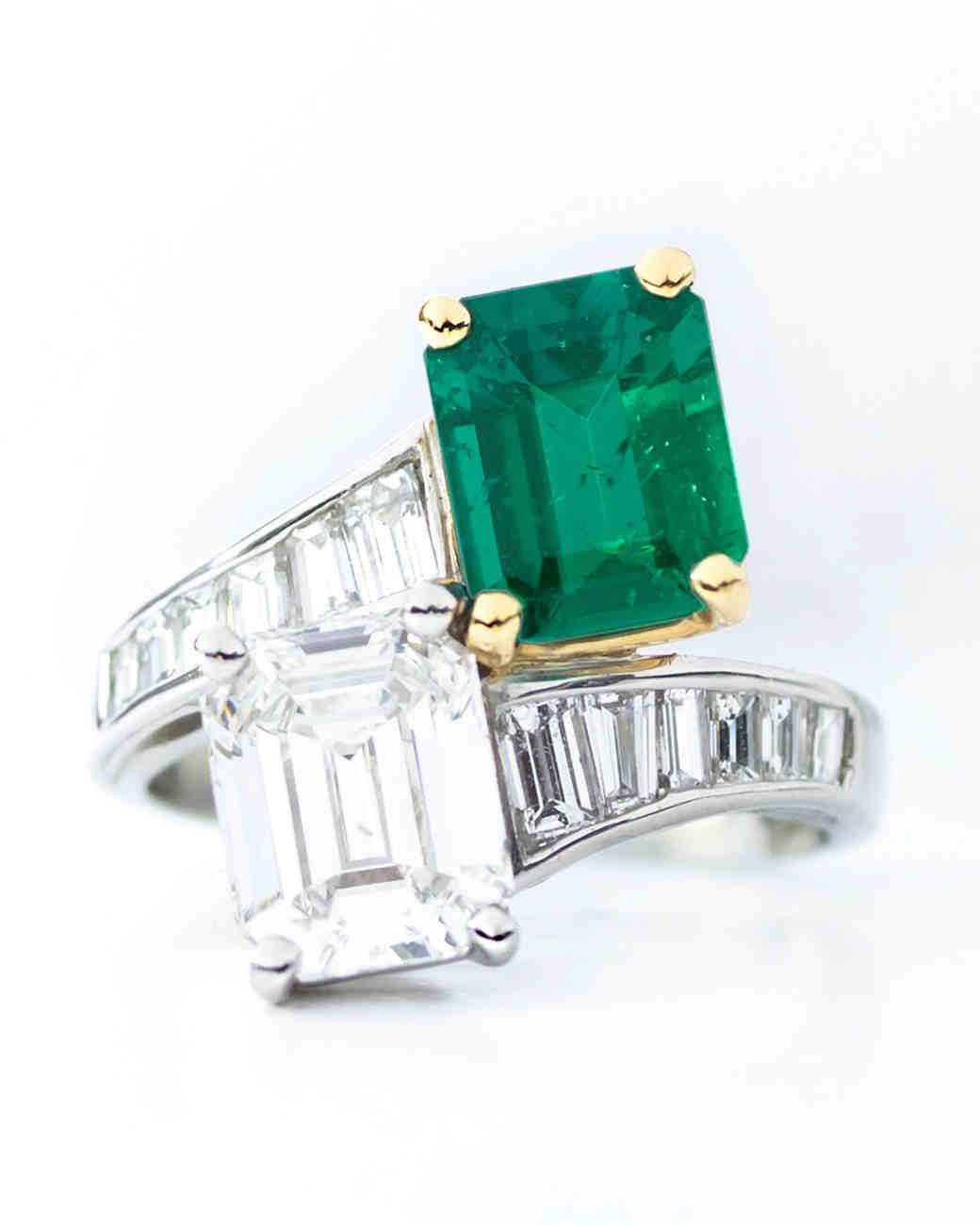 Oscar Heyman Emerald Engagement Ring