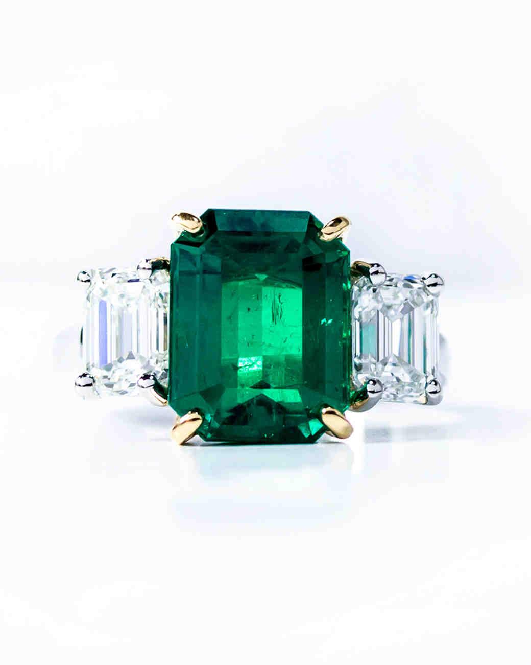 Oscar Heyman Emerald Engagement Rings