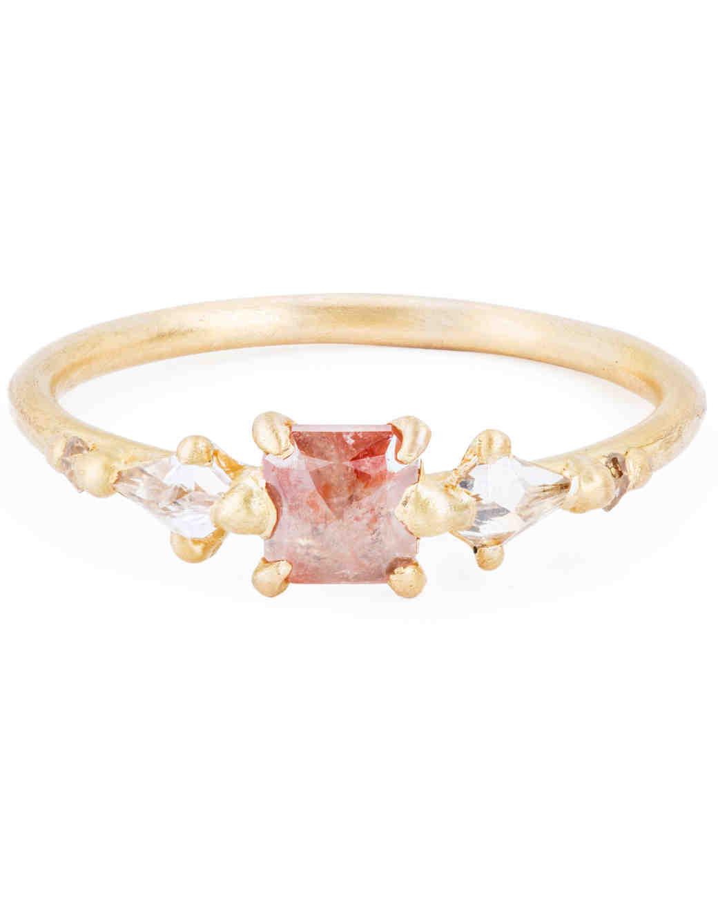 Polly Wales Princess-Cut Engagement Ring