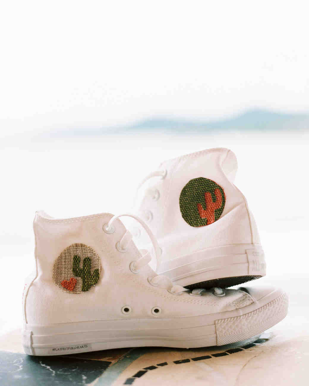Embroidered White Sneakers