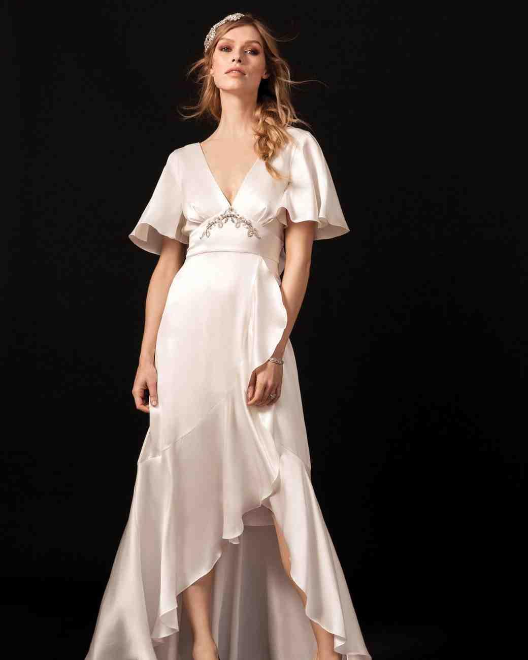 temperley v-neck wedding dress spring 2018
