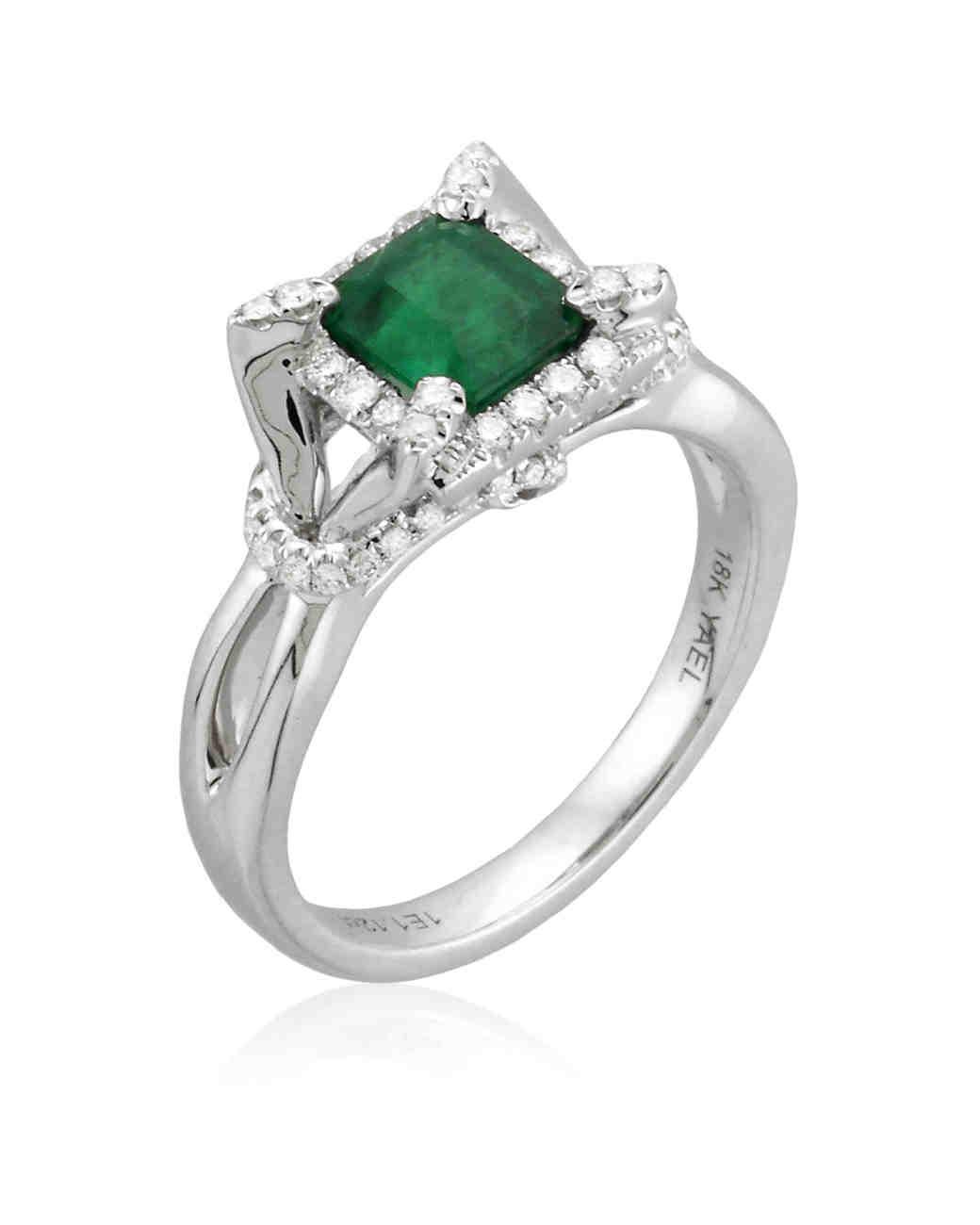 Yael Designs Emerald Engagement Ring