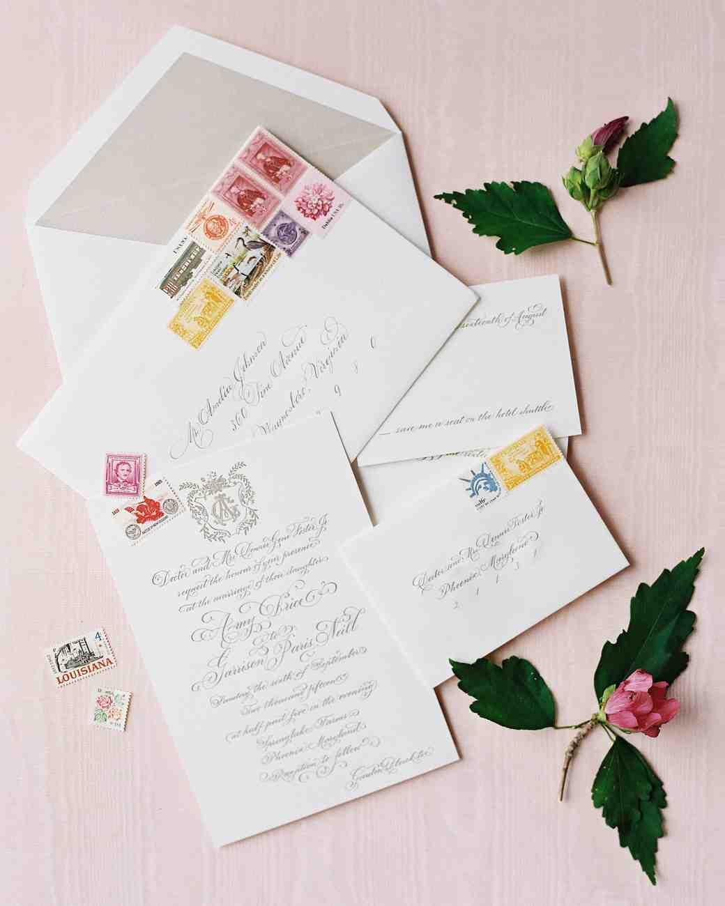Wedding Invitations In Maryland: An Elegant Garden Wedding Near Baltimore