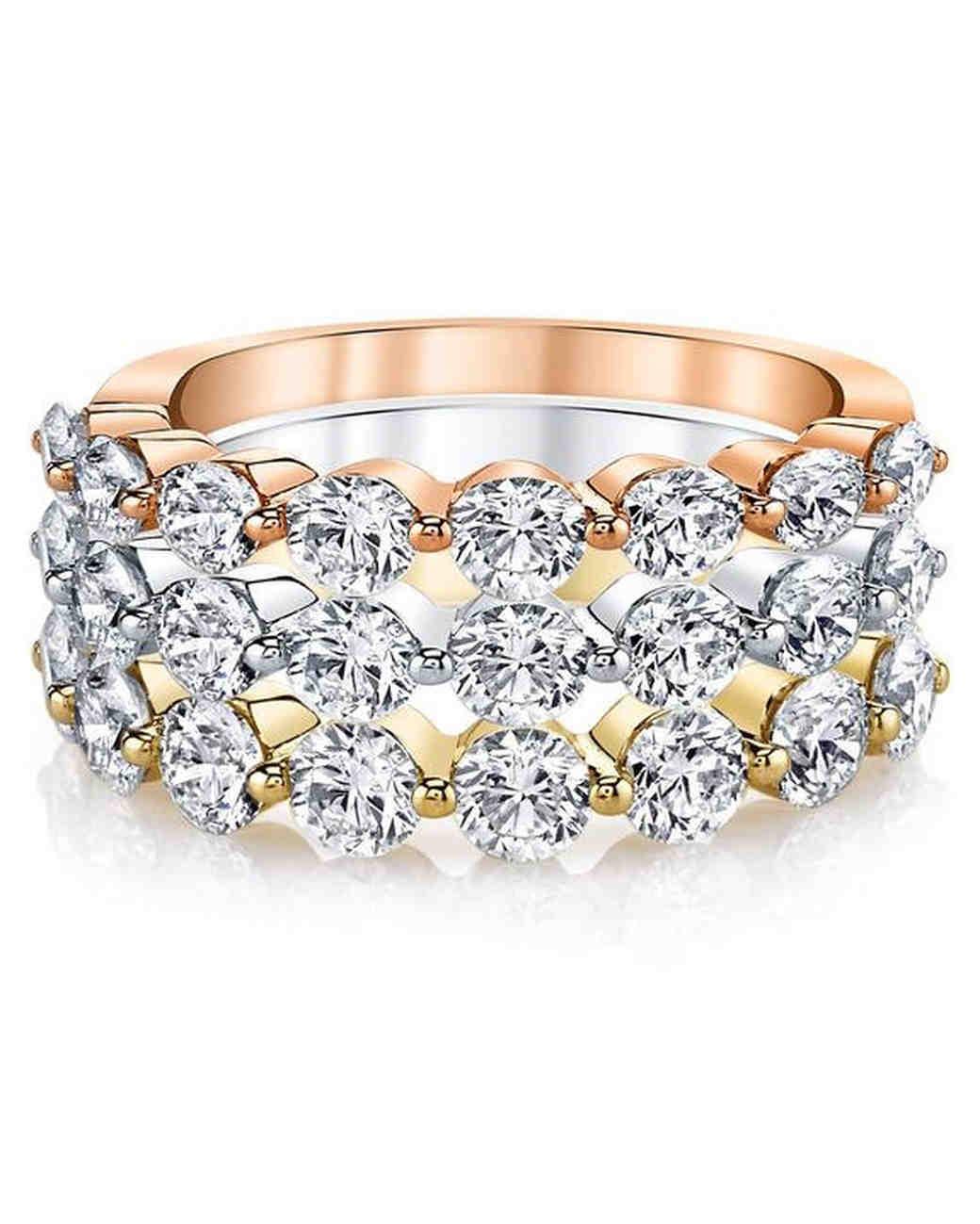 Anita Ko Floating Diamond Stackable Rings