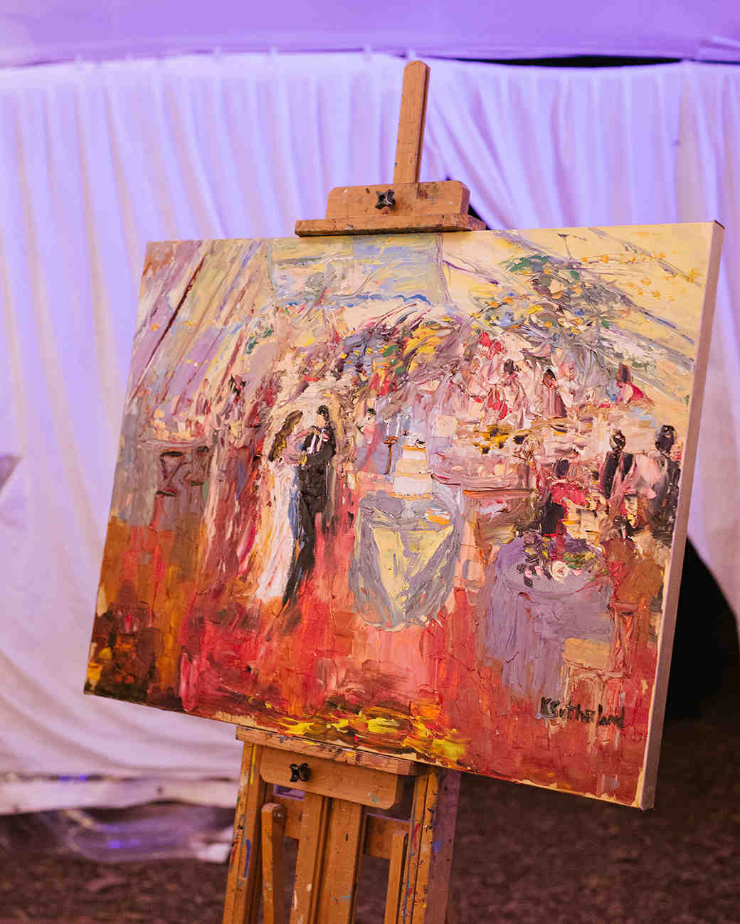 anne and staton wedding painting