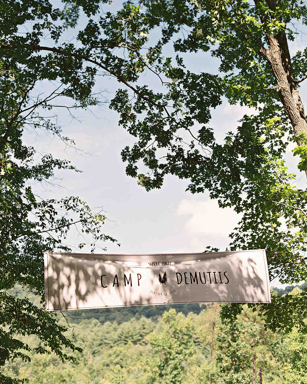 ashley and justin wedding welcome banner