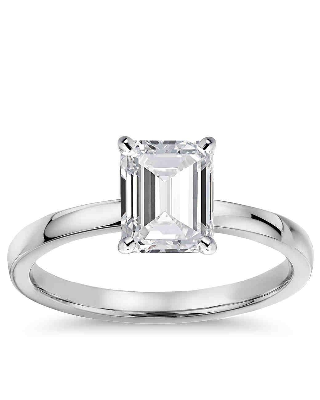Blue Nile Emeraldcut Engagement Ring