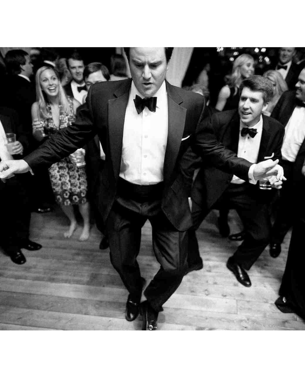 reception guest dancing