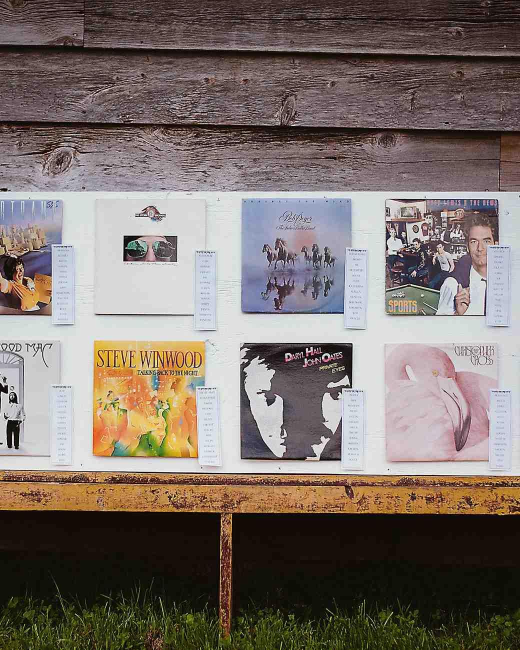 Music Album Seating Chart