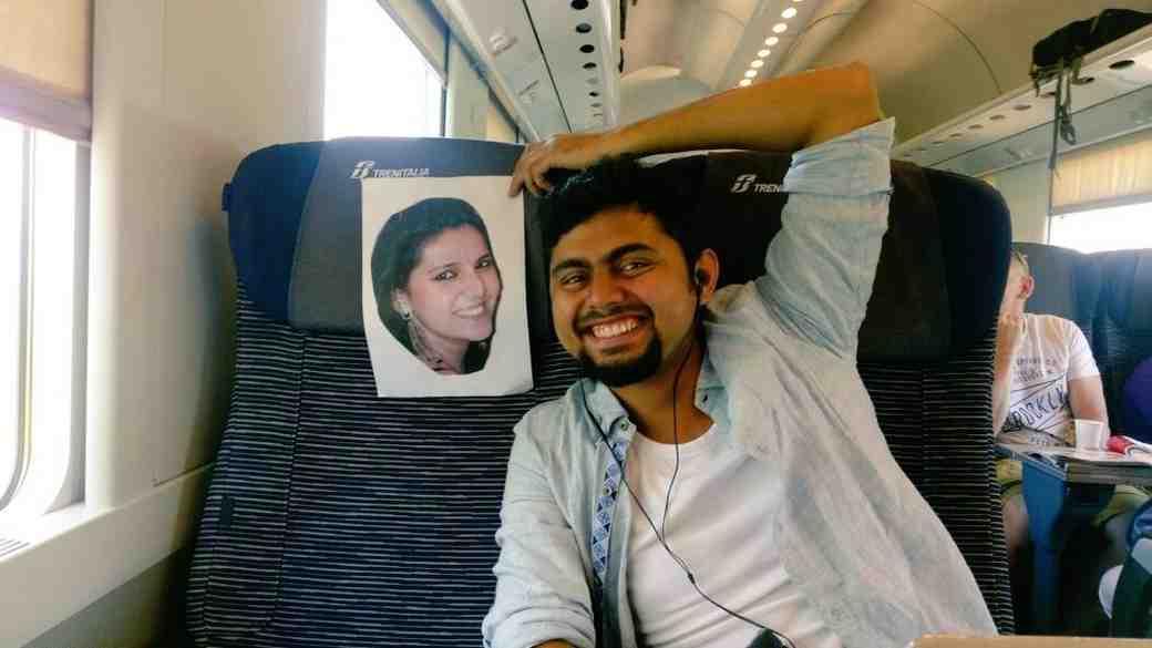 Faizan Patel on Honeymoon with Photo of Wife Sana
