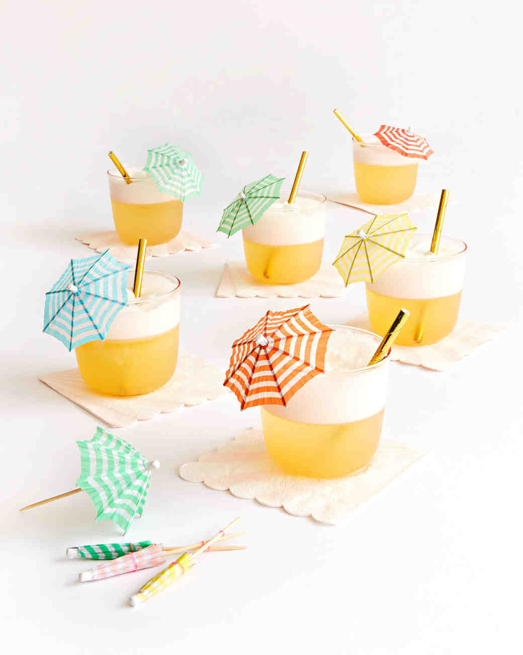 Oh Happy Day French-Inspired Bridal Shower Cocktails with Umbrellas