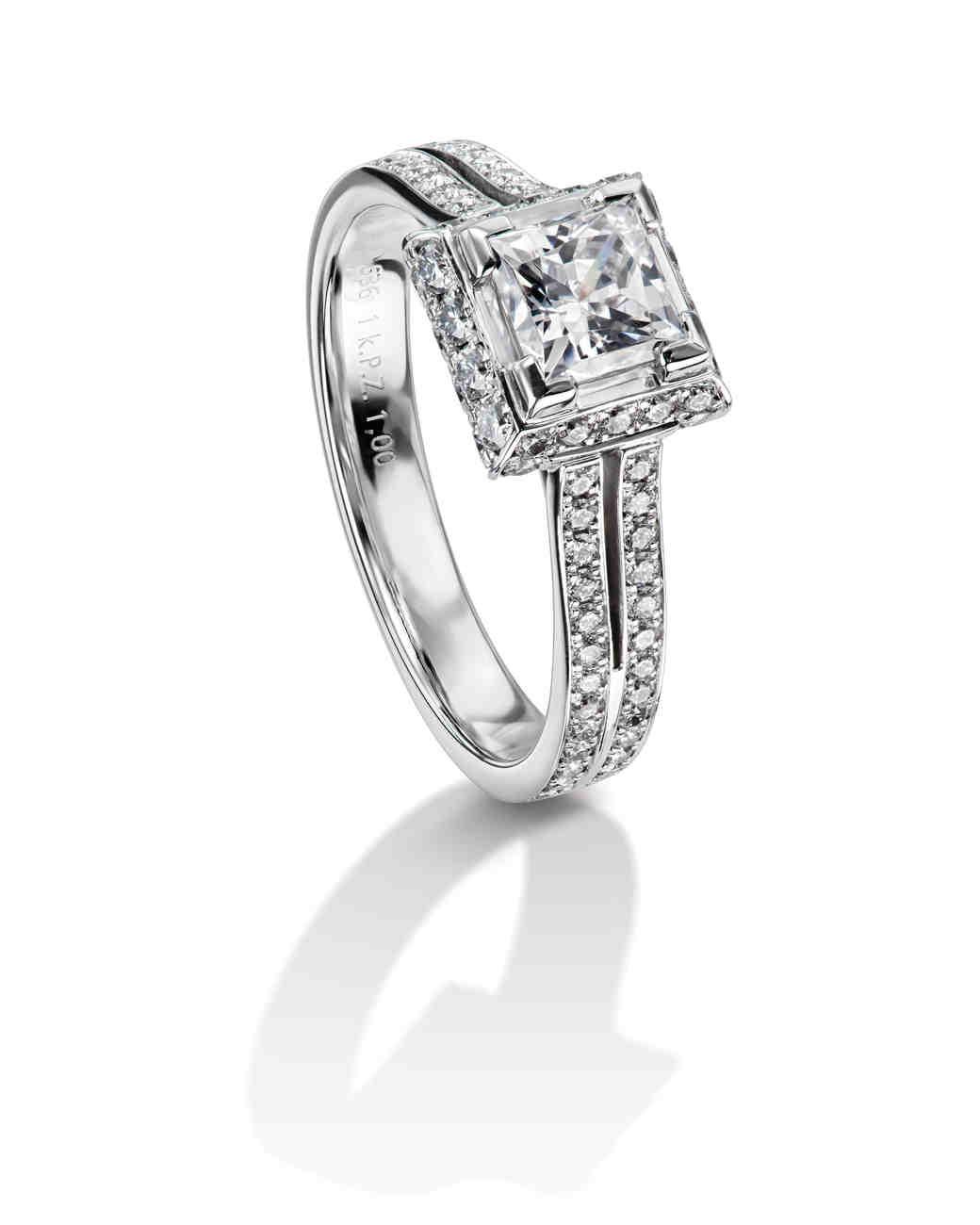 Furrer Jacot Princess-Cut Engagement Ring