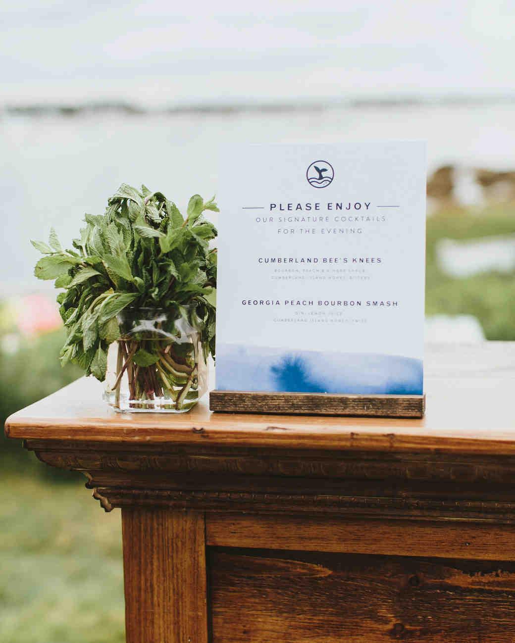 hadley corey wedding bar sign