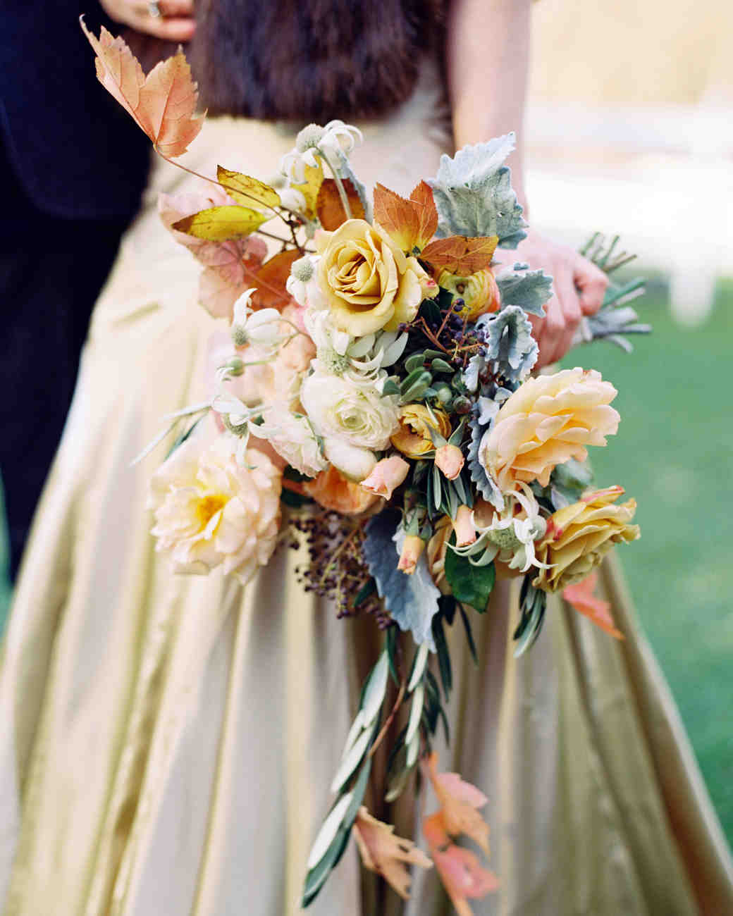 Gold and White Wedding Bouquet